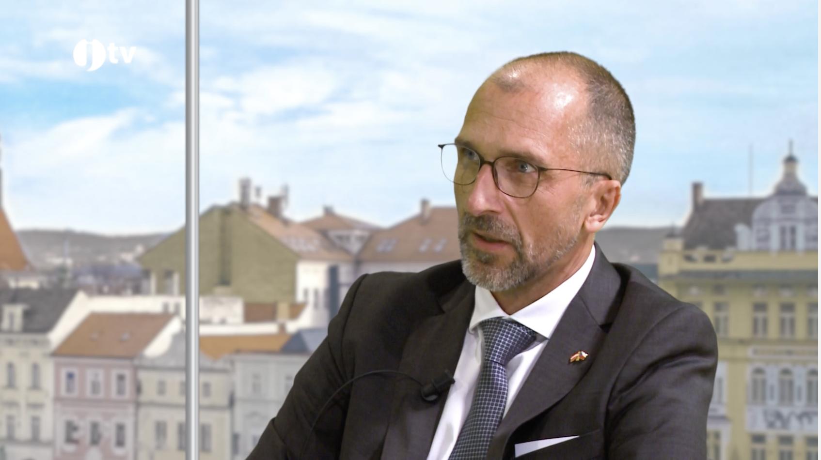 Oliver Christoph Jerney im Südböhmischen Fernsehen JTV