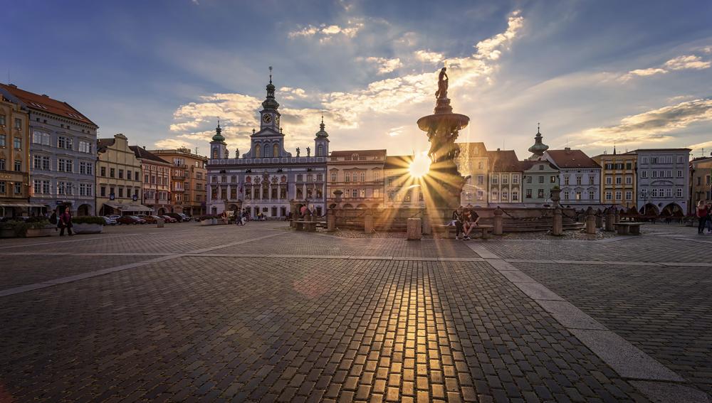 Budweis Stadtplatz České Budějovice náměstí